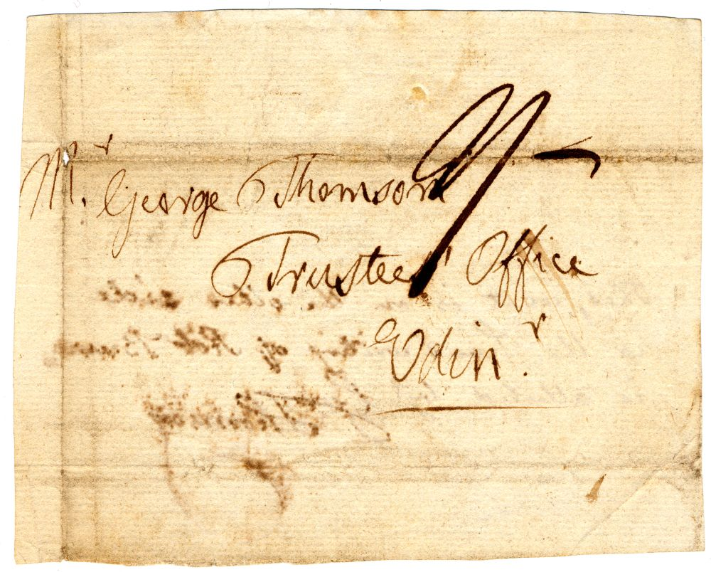 Fragment from a letter written by Robert Burns
